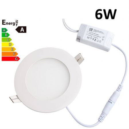 JSG Accessories® LED Round Recessed Ceiling Panel down Light Ultra-slim Lamp Ultra-Thin 6W